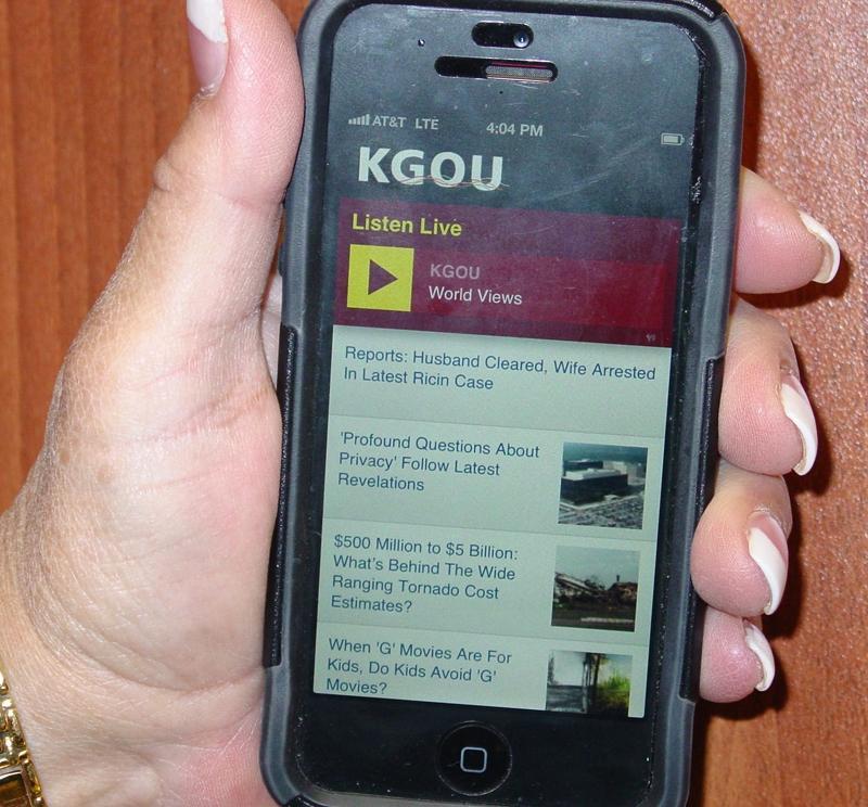 KGOU Mobile Web Page