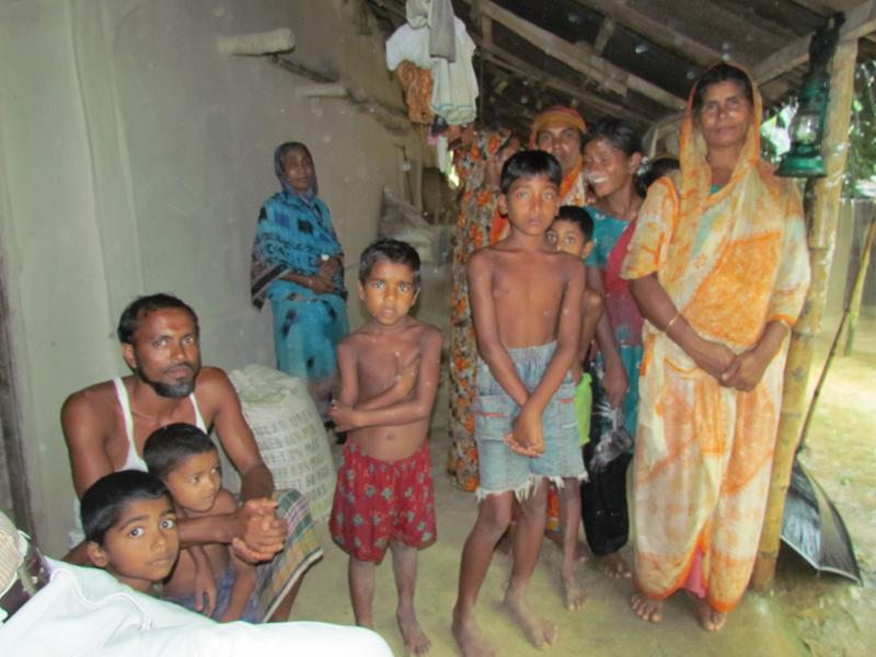 A family in rural Bangladesh that sells milk to Grameen Danone Foods.