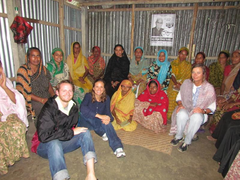 A borrower meeting in Bangladesh.
