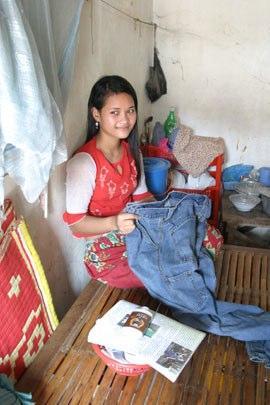 A Cambodian garment worker.