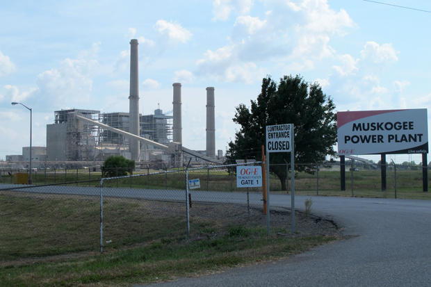 OG&E's coal-fired power plant in Muskogee.