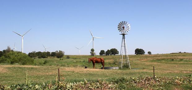 A wind turbine near Calumet, Okla.