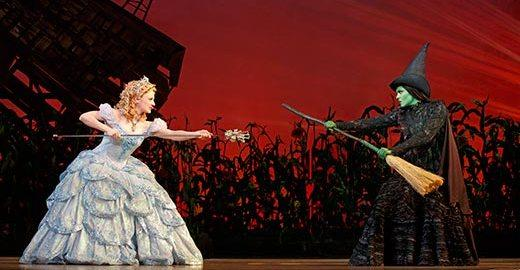 Elphaba and Glinda face off in Wicked