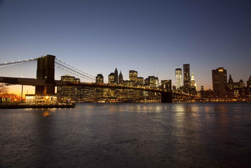 Brooklyn Bridge with Manhattan skyline