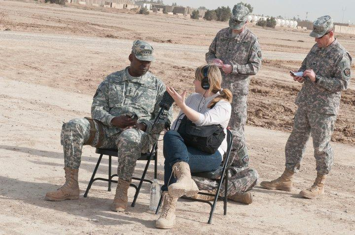 NPR's Kelly McEvers interviews a U.S. soldier in the Middle East.