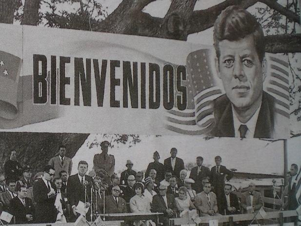 U.S. President John F. Kennedy at La Morita, Venezuela, during an official meeting for the Alliance for Progress in 1961.