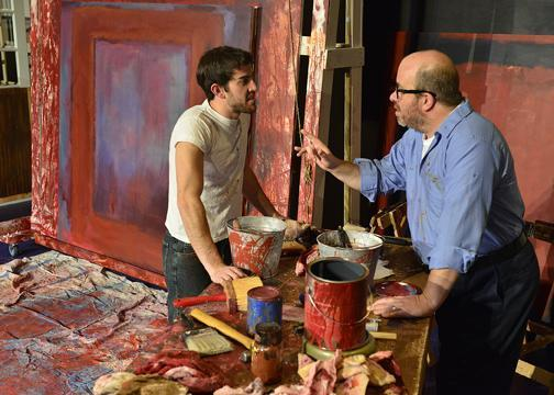 "Aaron Wertheim as Ken and D. Lance Marsh as Mark Rothko in CITY REP's Oklahoma premiere production of the Broadway hit, ""Red."""