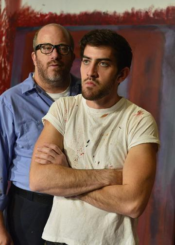 "D. Lance Marsh as Mark Rothko and Aaron Wertheim as Ken in CITY REP's Oklahoma premiere production of the Broadway hit, ""Red."""