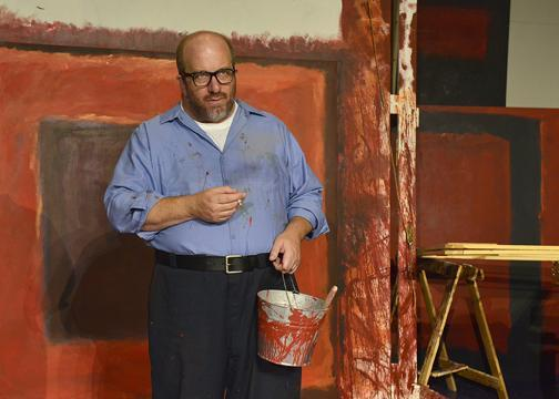 "D. Lance Marsh as Mark Rothko in CITY REP's Oklahoma premiere production of the Tony Award winning play, ""Red."""