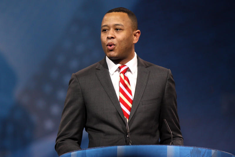 Oklahoma House Speaker T.W. Shannon (R-Lawton) speaking at the 2013 Conservative Political Action Conference (CPAC) in National Harbor, Maryland.