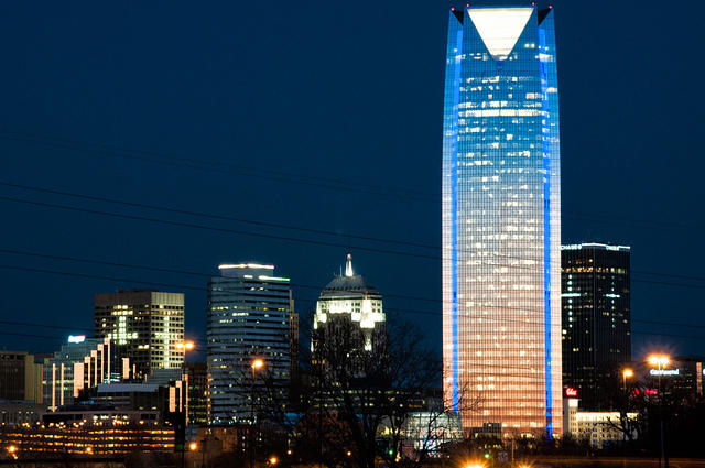 Oklahoma City Skyline at night