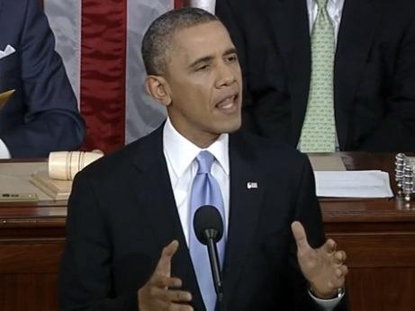 President Obama delivers his 2014 State of the Union address before a joint session of Congress Tuesday, January 28, 2014.