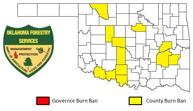 Current burn bans in Oklahoma (JANUARY 23, 2014)