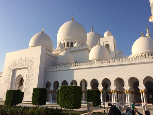 The Sheikh Zayed Grand Mosque in Abu Dhabi.