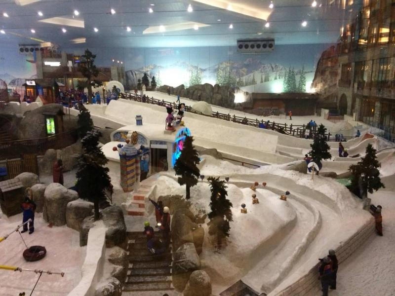 Mall of the Emirates's indoor ski slope.