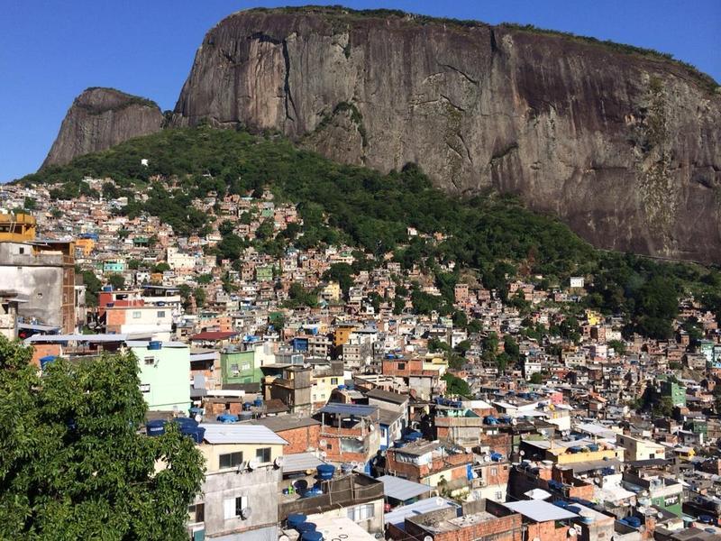 At the top of Rocinha favela in Rio de Janeiro, Brazil.