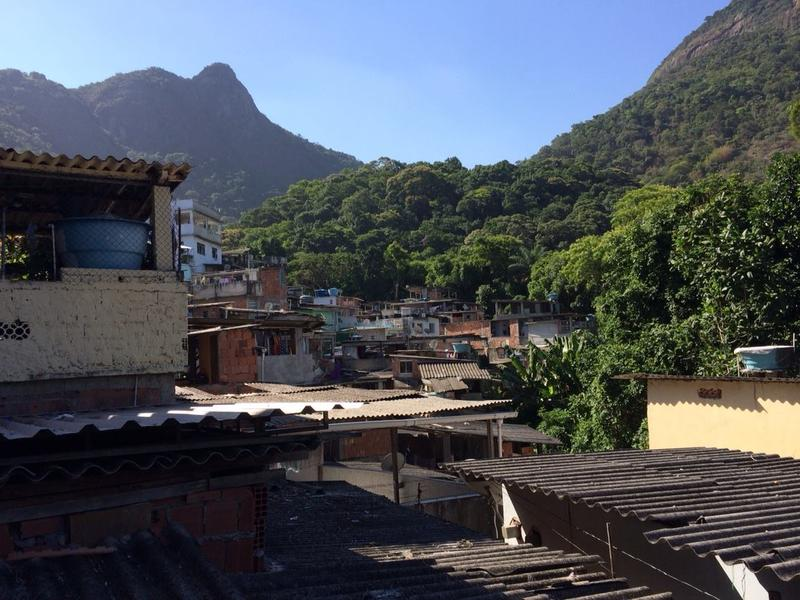 Visiting a school in one of the smallest favelas in Rio.