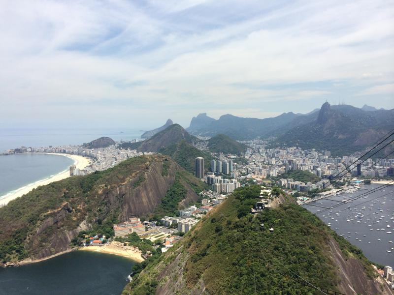 Rio de Janeiro from the top of Sugarloaf Mountain.