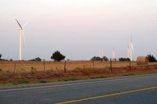 A wind farm outside of Woodward in northwestern Oklahoma.