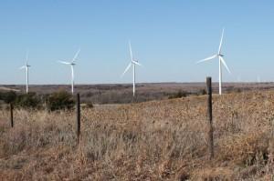 A wind farm in Ellis County in western Oklahoma.