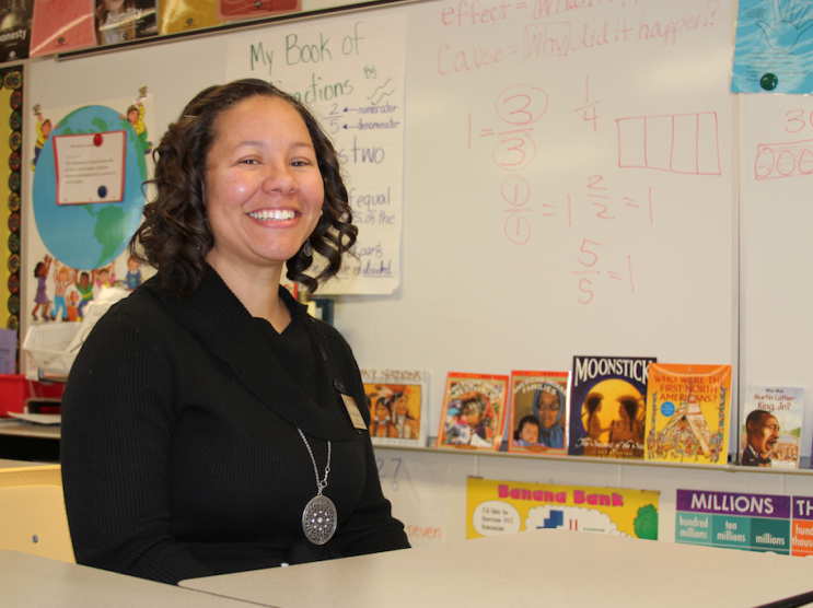 Michelle Hightower, third-grade teacher at Oakridge Elementary School in Oklahoma City.