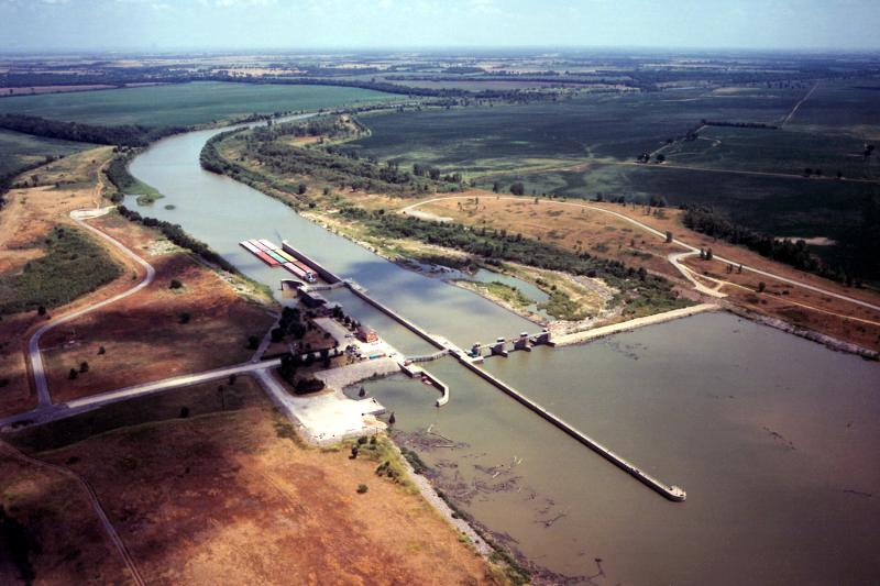 Newt Graham Lock and Dam on the Verdigris River in Wagoner County, Oklahoma