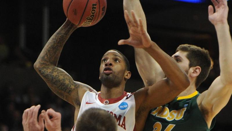 No. 12 North Dakota State defeats the No. 5 University of Oklahoma 80-75 in overtime.