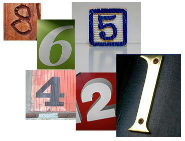 numerals collage