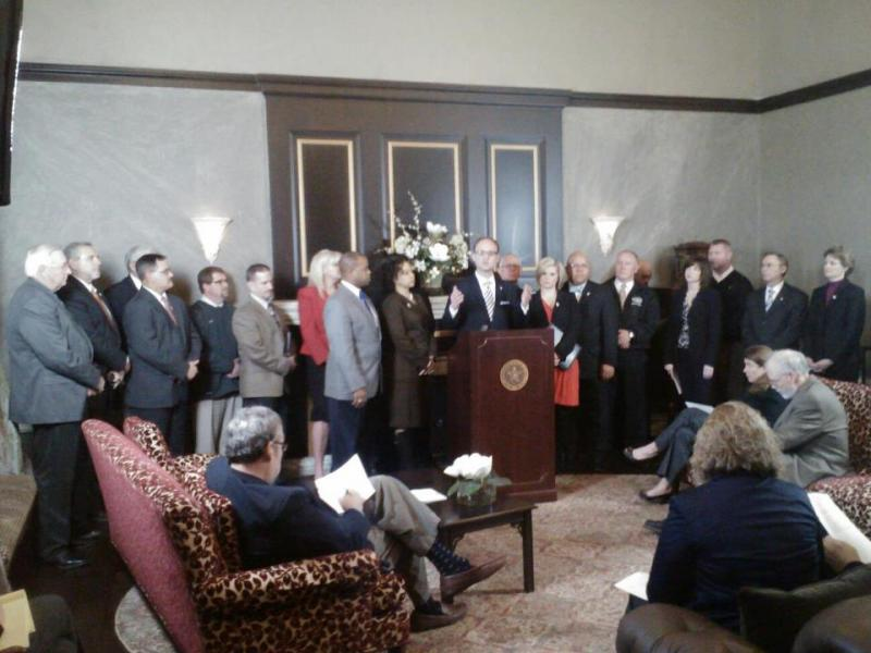 Okahoma's House Democrats hold a press conference on education and Gov. Mary Fallin's budget - March 2013