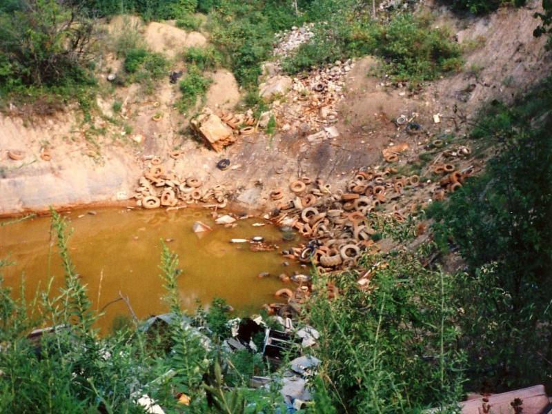A sinkhole near the Tar Creek/Picher Superfund site in Northeast Oklahoma.