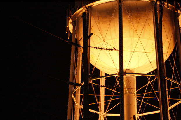 A water tower in Norman, Okla.