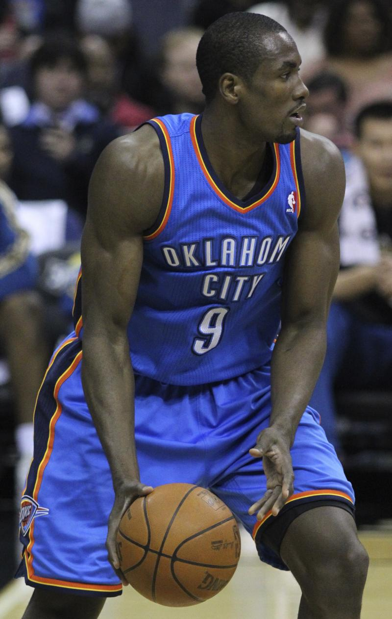 Oklahoma City Thunder forward Serge Ibaka.