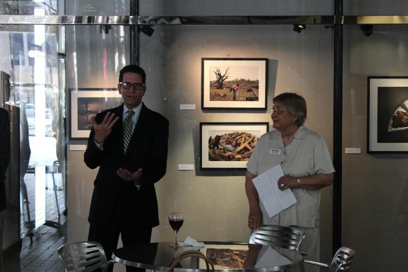 Exhibit curator Steve Boyd and Karen Holp
