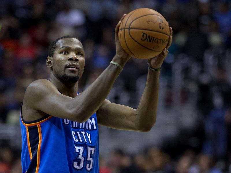 Kevin Durant beat out the Miami Heat's LeBron James, and Oklahoma City native Blake Griffin for his first league MVP award.
