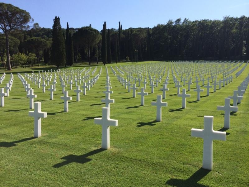 The American Cemetery in Florence where more than 4,000 soldiers were laid to rest after World War II.