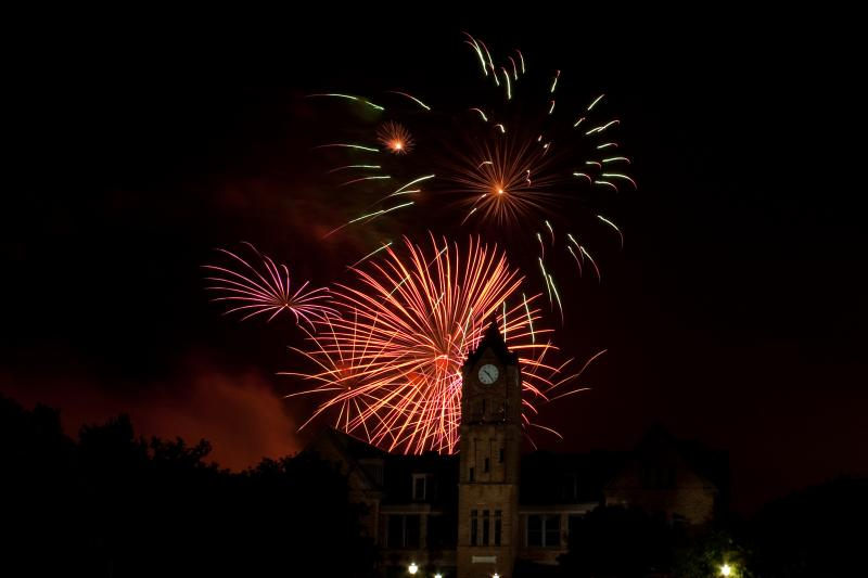 The Fireworks Grand Finale over UCO at the 2013 LibertyFest in Edmond.