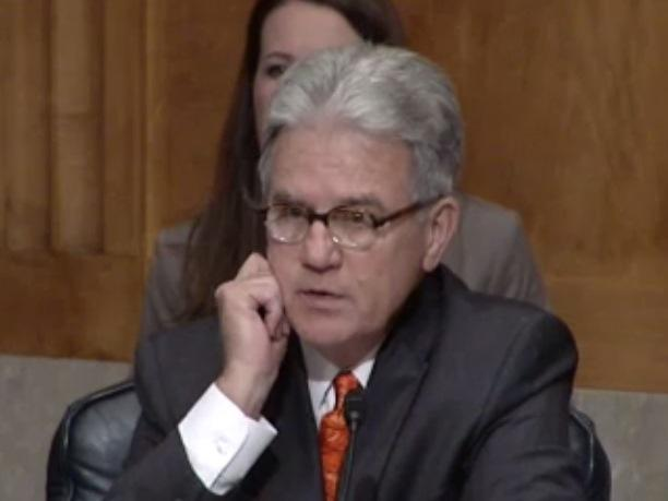 U.S. Sen. Tom Coburn (R-Okla.) during Wednesday's Senate hearing on U.S. border security.