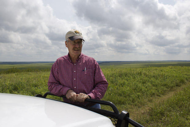 Bob Hamilton, director of the Tallgrass Prairie Preserve near Pawhuska, Okla.