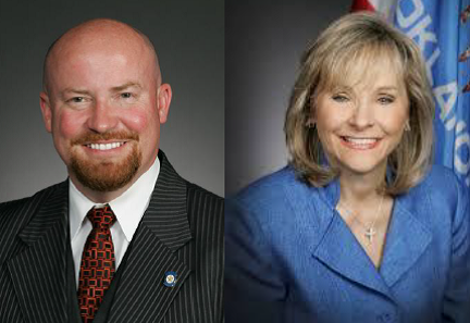 Joe Dorman and Mary Fallin
