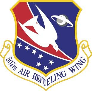 The emblem of the 507th Air Refueling Wing