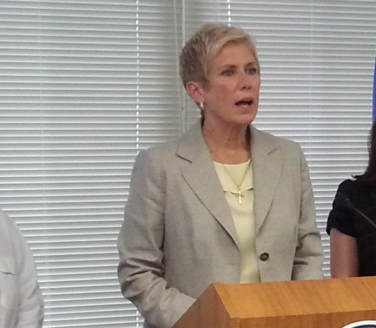 State Schools Superintendent Janet Barresi speaks about the federal government's denial of an NCLB waiver extension.