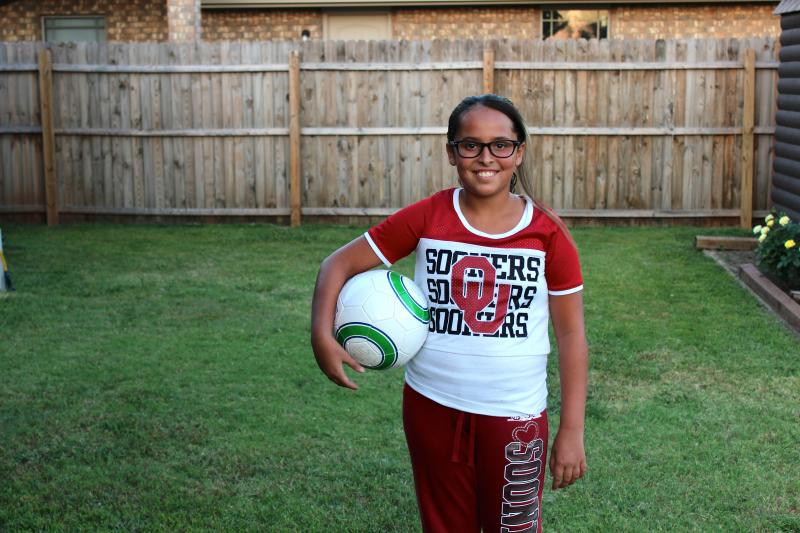 10-year-old Marissa Miley returns Tuesday, August 19, to Briarwood Elementary School