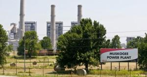 The Oklahoma Gas and Electric power plant in Muskogee.