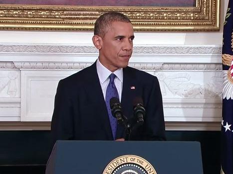 President Obama delivers an update on the situation and U.S. position on Iraq - August 7, 2014.