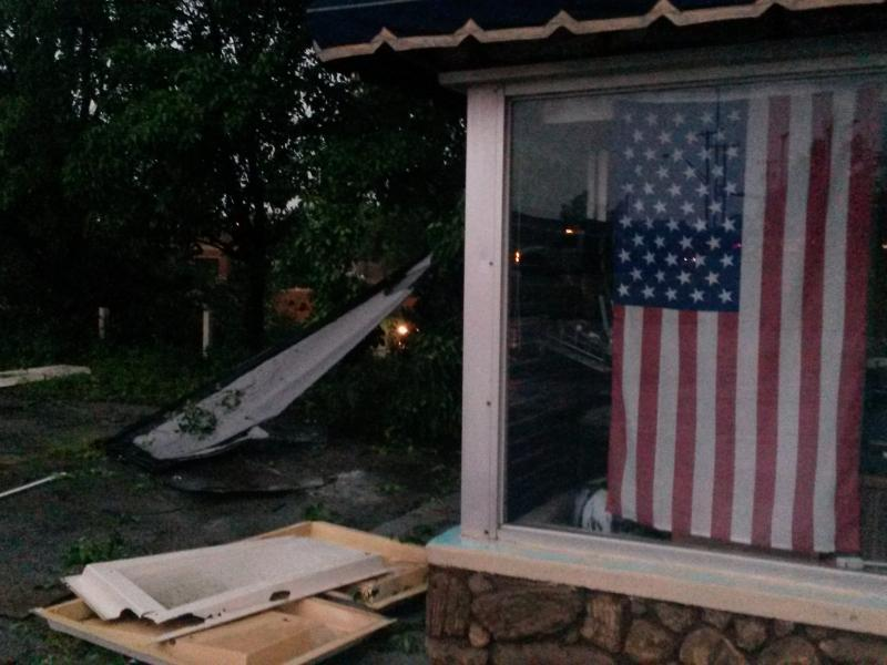High wind damage Tuesday morning in Bartlesville.