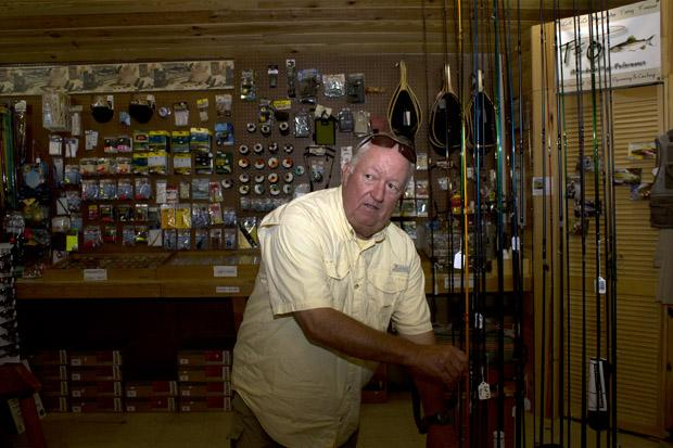 Eddie Brister, owner of the Beaver's Bend Fly Shop on the southern section of the Mountain Fork River.