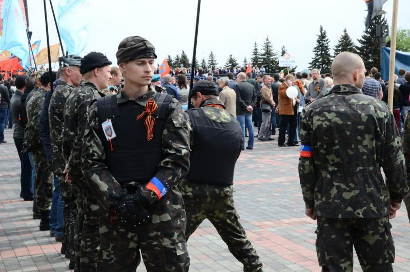 Insurgents in Donetsk.
