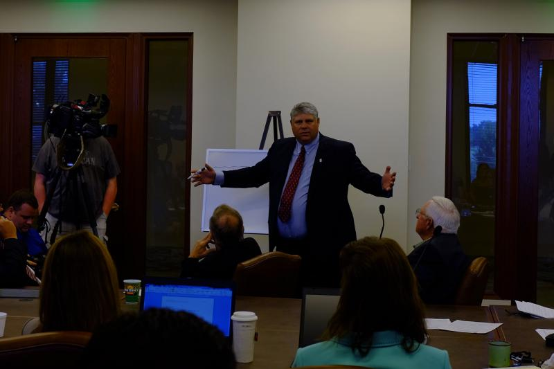 State Rep. Steve Vaughan (R-Ponca City) speaking during a September 9 interim study on oil and gas regulation.