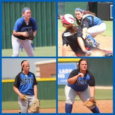 The four North Central Texas College softball players killed in Friday's crash. Clockwise from top right: Brooke Deckard, Jaiden Pelton, Katelynn Woodlee, Meagan Richardson