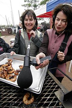 The Kitchen Sisters (L: Nikki Silva and R: Davia Nelson)